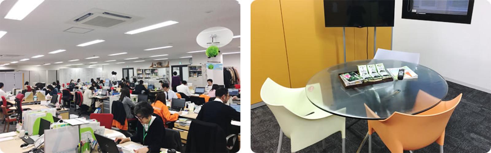 オフィス(業務スペース・スタッフ用休憩室)